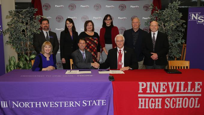 Northwestern and Pineville HS leaders sign agreement